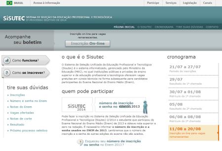 sisutec.mec.gov.br - Cursos Gratuitos Pronatec 2014-2015