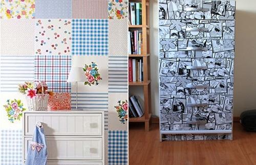 Decoração em adesivos para móveis