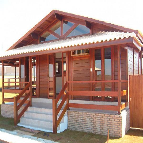 69153 casa de madeira  600x600 Casas de madeira pré fabricada   fotos, preços