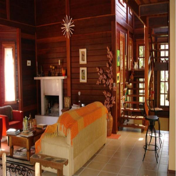 69153 casa interior madeira 600x600 Casas de madeira pré fabricada   fotos, preços
