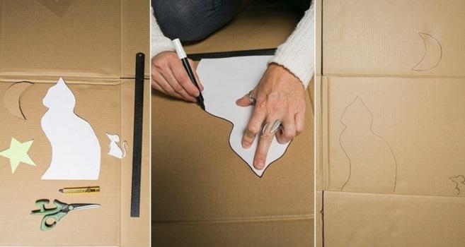 Aprenda a fazer uma casinha para gato com caixa de papelão
