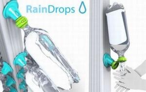 Captação de água da chuva com garrafa pet