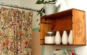 Decoração de banheiro com materiais reciclados