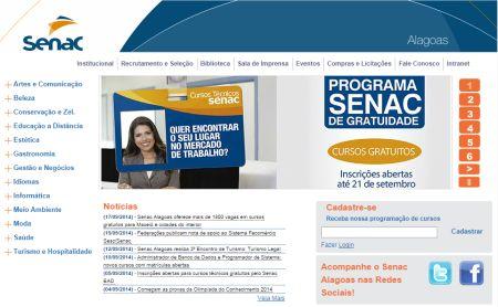 Inscrições para os cursos Senac Alagoas 2015