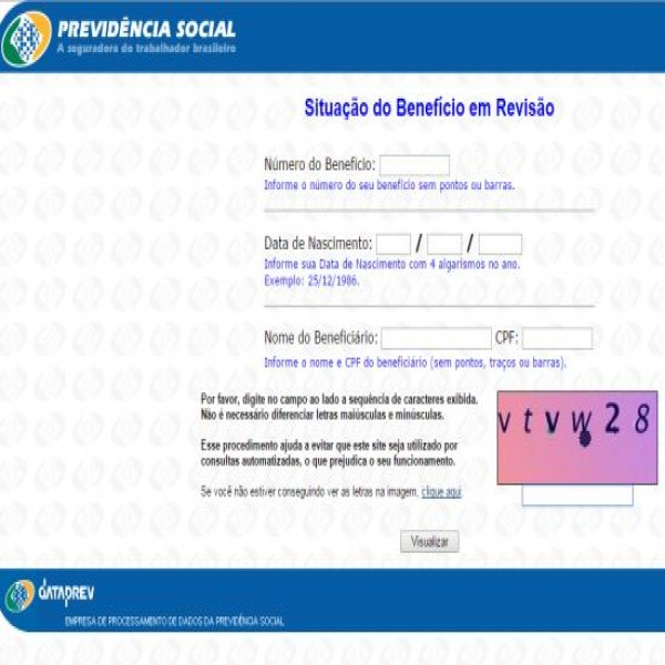 Consultar revisao de beneficio