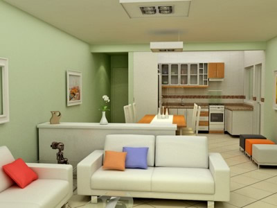 Cores de tintas para paredes externas internas dicas - Simulador de interiores ...