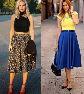 Saias da moda no verão 2017