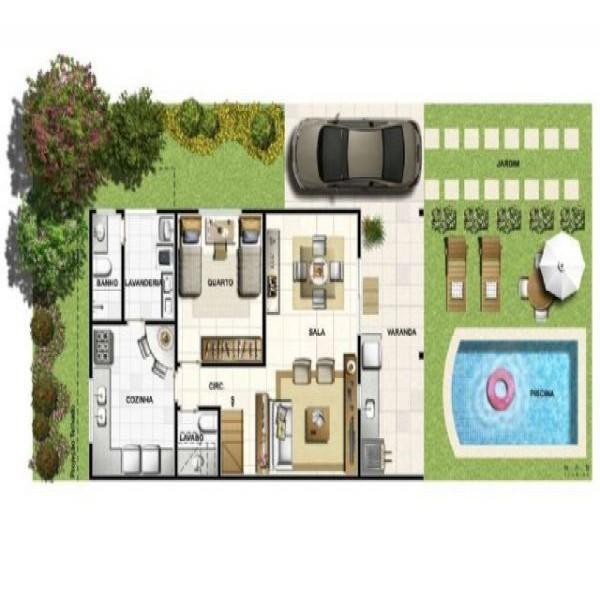 Plantas de casas pequenas piscina 2 150x150 plantas de - Piscinas para casas ...