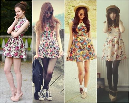 Modelos de Vestidos florais para o verão 2017