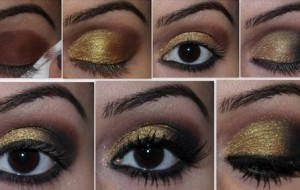 Maquiagem com glitter para réveillon 2015