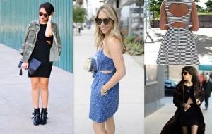 Moda 2017 com vestidos recortados