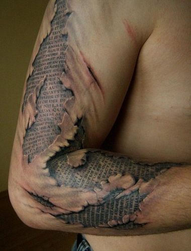 Modelos de tatuagens masculinas em 3D