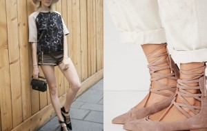 Trend: flats lace up ballerinas