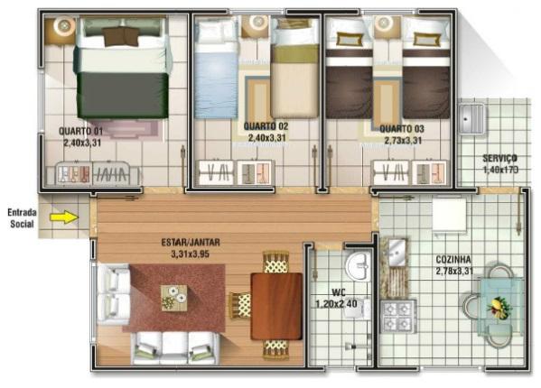 Plantas de casa de s tio for Hacer planos de habitaciones