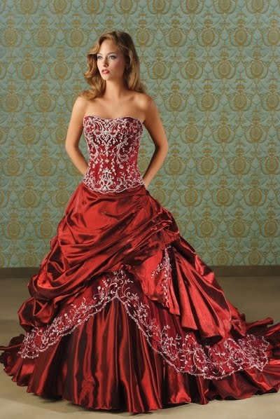 74548 para mulheres de atitude Vestidos de Noiva Coloridos   Fotos