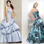 74548 vestido floral e com babados 150x150 Vestidos de Noiva Coloridos   Fotos