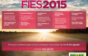 Inscrições para o Fies do segundo semestre 2015