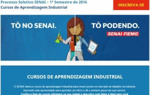 Senai cursos de aprendizagem industrial 2015