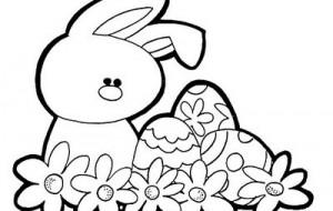 Símbolos da Páscoa para Colorir   Figuras e Coelhinhos