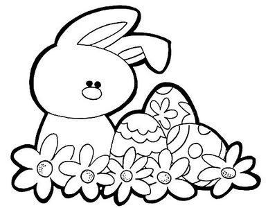 Símbolos da Páscoa para Colorir | Figuras e Coelhinhos