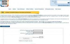 Como imprimir recibo provisório da Nota Fiscal Paulistana