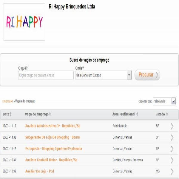 77416 vagas de emprego ri happy trabalhe conosco 600x600 Trabalhe Conosco Ri Happy   Cadastro De Currículo