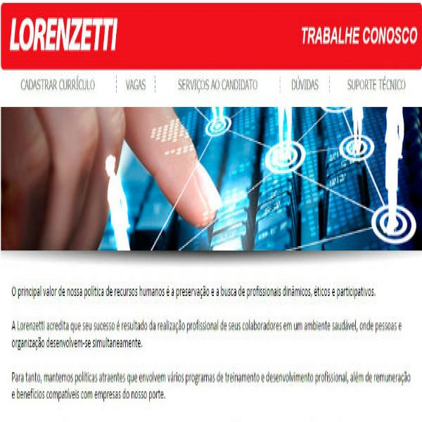 83166 trabalhe conosco lorenzetti 600x600 Trabalhe Conosco Lorenzetti, Cadastro de Currículo