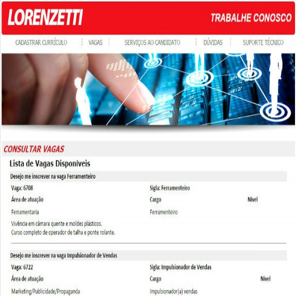 83166 vagas de emprego lorenzetti 600x600 Trabalhe Conosco Lorenzetti, Cadastro de Currículo