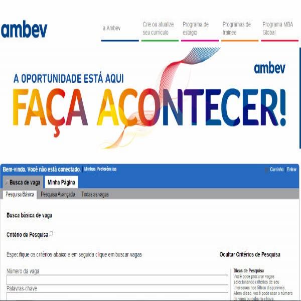 88851 ambev trabalhe conosco 600x600 RH Ambev   Vagas, Cadastro de Currículo