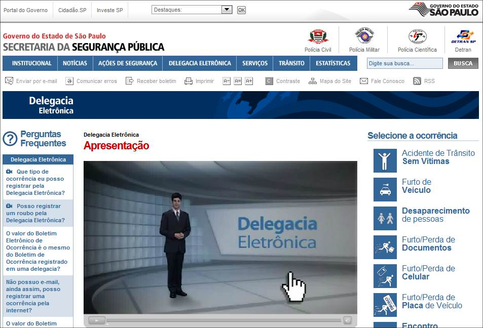 89695 Secretaria de Estado da Segurança Pública Governo do Estado de São Paulo Google Chrome Como Cancelar BO Eletrônico