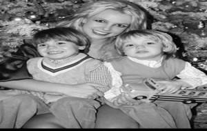 Foto de Britney Spears com os Filhos em Cartão de Natal