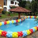 Decoração de Piscina com Balões 150x150 Decoração de Piscina com Balões