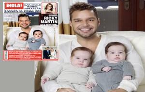 Ricky Martin posa para Foto com seus Gêmeos – Valentino e Matteo