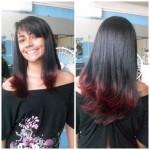 cabelo com mechas vermelhas 150x150 Mechas Californianas Vermelhas Passo a Passo