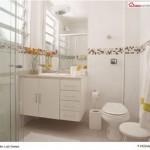 casa box branco 150x150 Decoração para Banheiros Simples