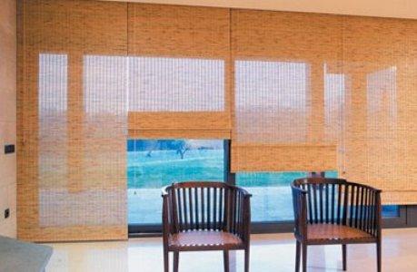 decora%C3%A7%C3%A3o com cortinas de bambu 1 Decoração Com Cortinas De Bambu