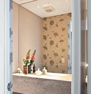 decoração de lavabos com papel de parede 1 Decoração de Lavabos com Papel de Parede