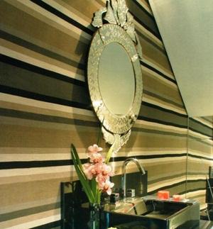 decoração de lavabos com papel de parede 2 Decoração de Lavabos com Papel de Parede