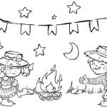desenho de festa junina colorir gratis junina festa colorir 150x150 Figuras de São João para colorir