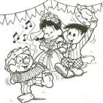 desenho para pintar festa junina 150x150 Figuras de São João para colorir
