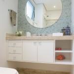 espelho12 150x150 Decoração de Banheiro com Espelhos Fotos