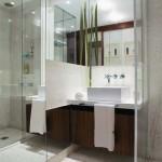 espelho7 150x150 Decoração de Banheiro com Espelhos Fotos