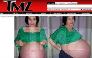 Fotos dos oito gêmeos – Barriga da Mãe dos oito gêmeos: Óctuplos