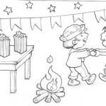 molde colorir festa junina03 150x150 Figuras de São João para colorir