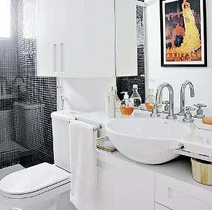 BanheirosPequenosDecorados1 Banheiros Pequenos Decorados