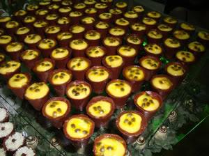 CopinhosdeChocolatecomMaracuj Receita: Copinhos de Chocolate com Maracujá