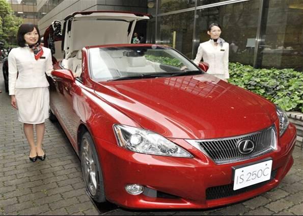 ToyotalanaconversvelLexusIS250C Fotos do Conversível Lexus IS 250C da Toyota
