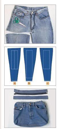 bolsa cala jeans Bolsa Jeans Passo a Passo
