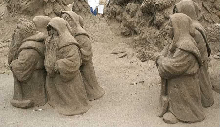 escultura areia anoes Fotos de Esculturas em Areia   Verdadeiras Obras de Arte !