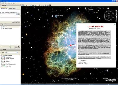 google earth sky Google Earth Sky, o espaço em suas mãos